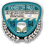 Aged Vintage 1994 Dated Car Show Exhibitor Pass Design Vinyl Car sticker decal  89x87mm